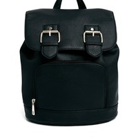 ASOS Backpack with Double Buckle Detail