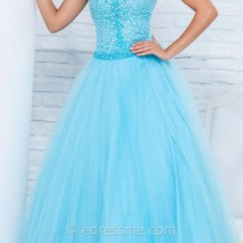 Bubble Stone Tulle Prom Gown by Tony Bowls Le Gala