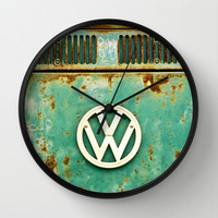 VW Retro Wall Clock by Alice Gosling