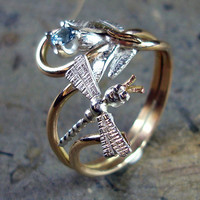Adjustable Nature Dragonfly Flying Over a by AviationJewelry