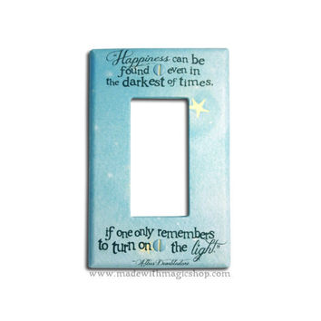 Turn On The Light - Wizard Inspired Rocker Style Switch Plate