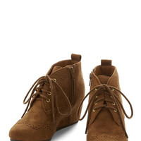 ModCloth Quill of the Night Bootie in Fawn