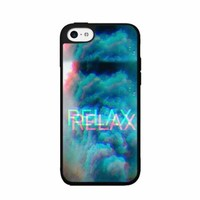 Relax with Smoke Clouds - Plastic Phone Case Back Cover (iPhone 5c)