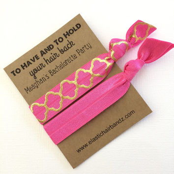 Custom Bachelorette Party Favors Gold Quarter Foil Print - To Have And To Hold Your Hair Back - Choose your color