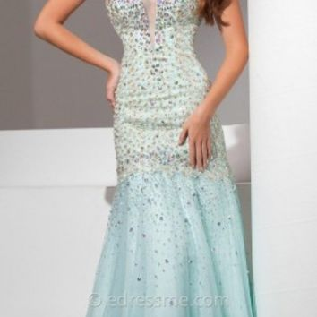 Iridescent Trumpet Prom Gown by Tony Bowls Le Gala