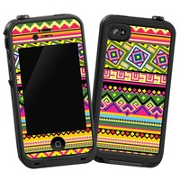 """Happy Bright Tribal """"Protective Decal Skin"""" for LifeProof iPhone 4/4s Case"""