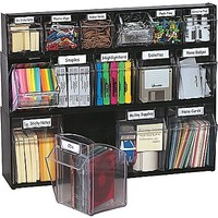 Deflecto® Tilt Bin™ Multipurpose Storage and Organization System