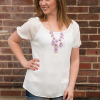Sweet Tee Blouse - White