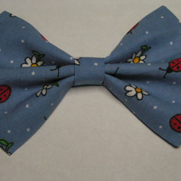 Lady bugs fabric hair bow clip, Hair clips for kids and teens, hair clips for women, small hair bows