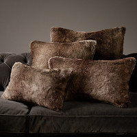 Luxe Faux Fur Pillow Collection - Mink