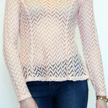 For The Thrill Lace Top in Light Pink | YA Los Angeles