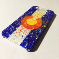 Hand Painted Splatter Colorado Flag iPhone 4/4s/5/5s/6/6Plus Case