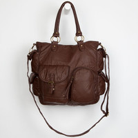 T-Shirt & Jeans Multi Pocket Tote Bag Chocolate One Size For Women 23511240201