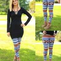 Skies A Flame Patterned Legging