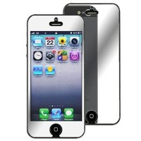 eForCity Mirror Screen Protector Compatible with Apple iPhone 5 - Retail Packaging - Transparent
