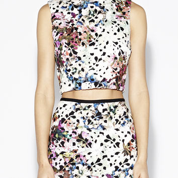 Printed Venice Lace Top