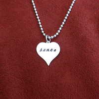 Dance stamped necklace (other pieces can be customized/personalized)