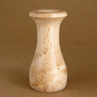 Wood Vase Turned in Birdseye Maple
