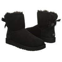 Women's UGG Mini Bailey Bow Boot Black Shoes.com