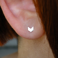 All Things Considered - D.I.Y. No.10 - geometric single mini sterling silver stud earring