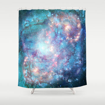 Abstract Galaxies 2 Shower Curtain by Barruf Designs