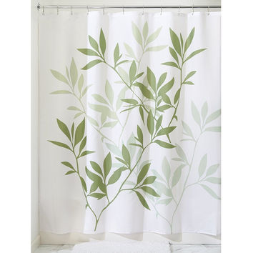 """Nelly's Leaf Designed Fabric Shower Curtain 72"""" x 72"""""""