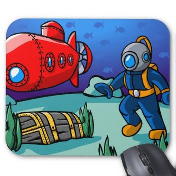 An Underwater Adventure Mouse Mat from Zazzle.com