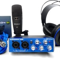 Presonus AudioBox Studio with Headphones, Microphone, Mic Cable, USB Cable, and StudioOne Artist Software