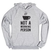 Not A Morning Person (Hoodie)-Unisex Heather Grey Hoodie