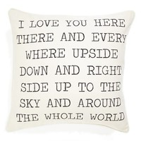 Levtex 'I Love You' Pillow