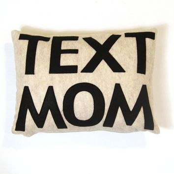 Text Mom Pillow