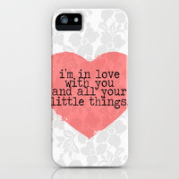 Little Things- One Direction iPhone Case by mysteryxmeow   Society6