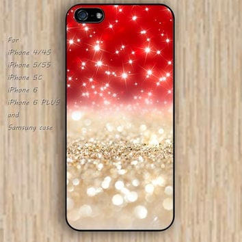 iPhone 6 case Red sparkle iphone case,ipod case,samsung galaxy case available plastic rubber case waterproof B068
