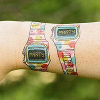 Tattly Party Watch Temporary Tattoos
