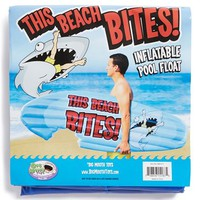 Big Mouth Toys 'This Beach Bites' Inflatable Pool Float