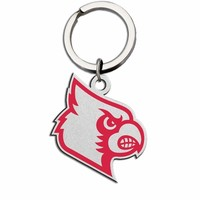 Louisville Cardinals Large Size Stainless Steel Key Ring With Color