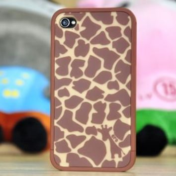 Euro Fancy Pattern Soft Rim Case for iPhone 4/4S