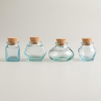 Green Recycled Glass Spice Jars, Set of 4 - World Market