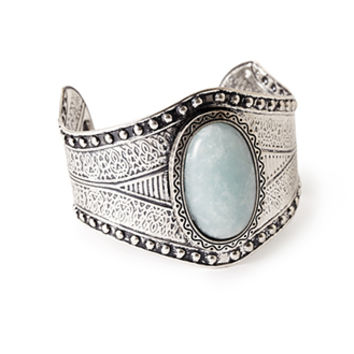Etched Faux Stone Cuff