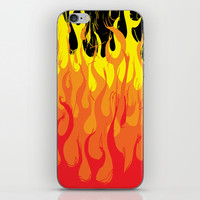 flames iPhone & iPod Skin by Michael Hewitt