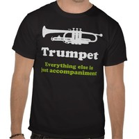 Funny Trumpet Player Shirt from Zazzle.com