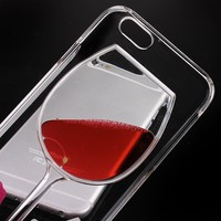 iPhone 5S Case, iPhone 5 Stylish Case, Bingomax [Slim Light Weight] Premium 3D Case for iPhone 5S Clear Cute Case [Transparent See Through Hard Cover] for iPhone 5S/ iPhone 5 - Red Wine