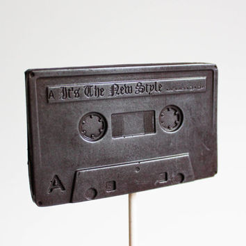 3 Chocolate Cassette Tape Lollipops