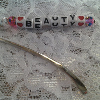 Beauty Small Silver Bookmark