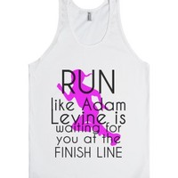 Run like Adam Levine-Unisex White Tank