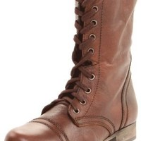 Steve Madden Women's Troopa Boot,Brown Leather,8 M US