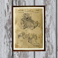 Vintage camera poster Antique home decor Photography print Patent art AKP220