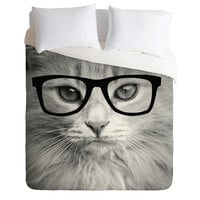 Allyson Johnson Hippest Cat Duvet Cover