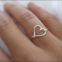 Gift- Silver Heart Ring