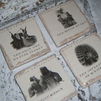 Harry Potter actual  book picture Coaster Set